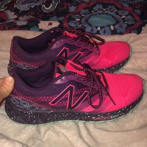 Women's Pink Purple New Balance 690